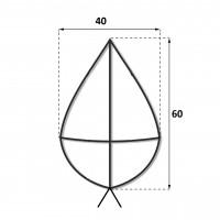Каркас крест 0.6 м.
