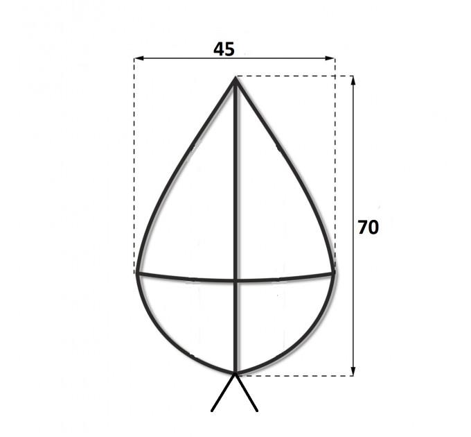 Каркас крест 0.7 м.