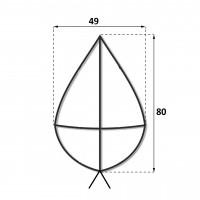 Каркас крест 0.8 м.