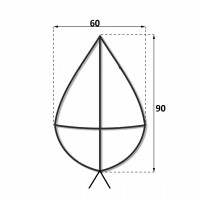 Каркас крест 0.9 м.