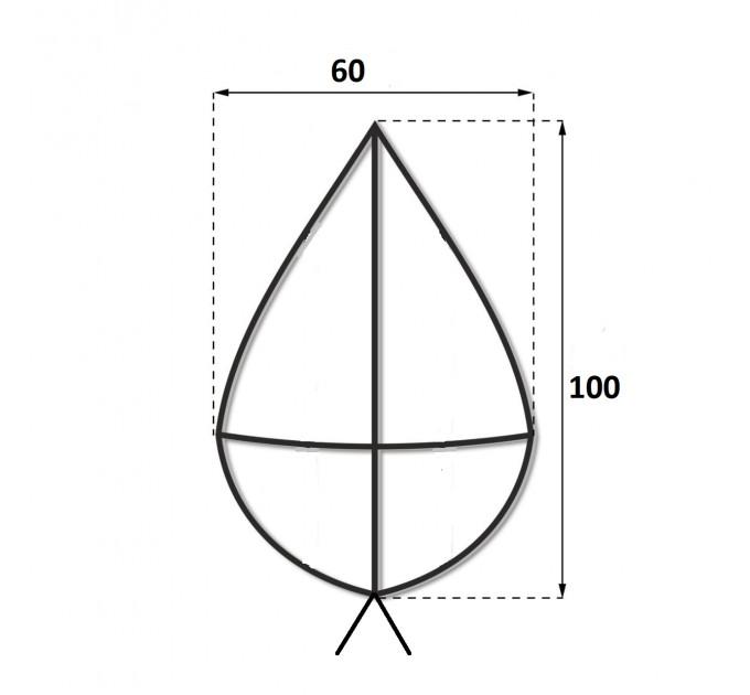 Каркас крест 1 м.