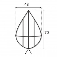 Каркас плоский 0.7 м.