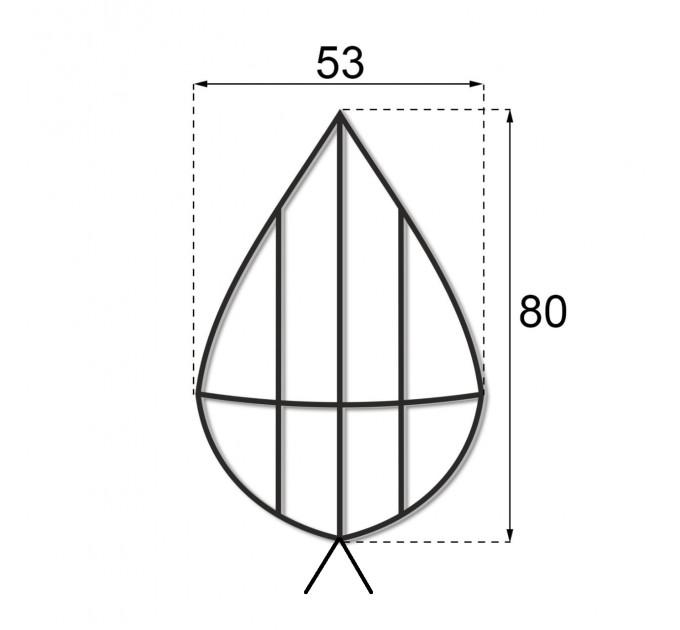 Каркас плоский 0.8 м.