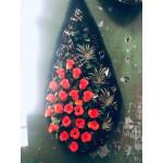 Венок 1.2 м папоротник красный