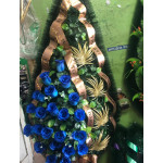 Венок 1.2 м папоротник синий