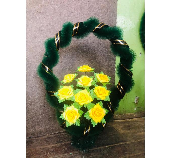 Корзина павлин (2) желтый