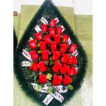 Венок 1 м роза красная