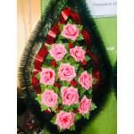 Венок девятка роза розовая