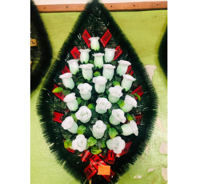 Венок 1 м роза белая
