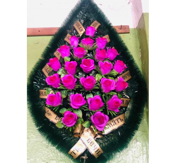 Венок 1 м роза сиреневая