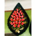 Венок 1 м роза розовая