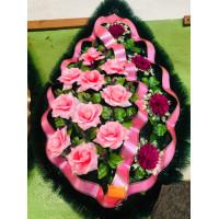 Венок 1 м сиренево-розовый